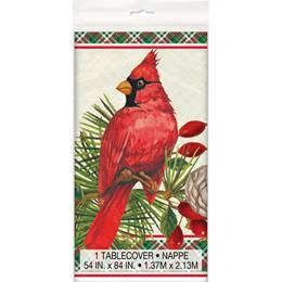 Red Christmas Cardinals Tablecover