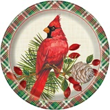 Red Christmas Cardinals Dinner Plates