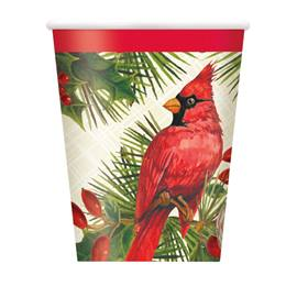 Red Christmas Cardinals Hot/Cold Cups