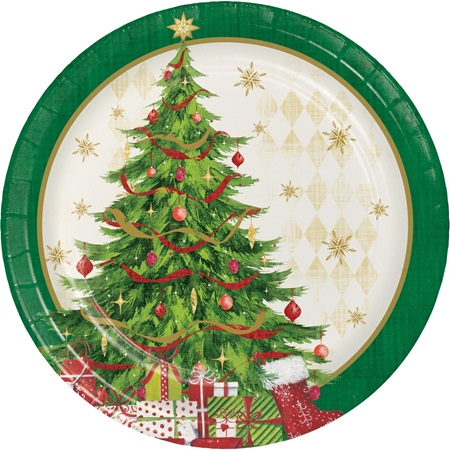 Tasteful Tree Lunch Plates