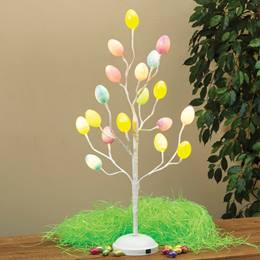 Easter Egg LED Lighted Table Top Tree