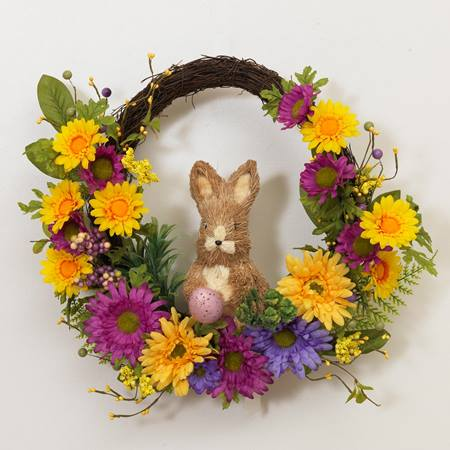 Twig, Sunflower, & Berry Easter Bunny Wreath