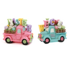 Resin Truck With Easter Bunny Egg Sign