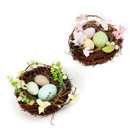 Natural Vine Bird Nest with Eggs