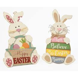 Easter Wood Bunny Figurine