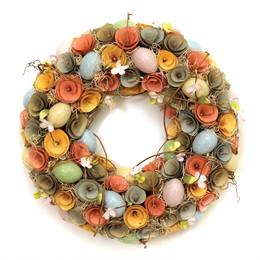 Wood Chip Easter Wreath