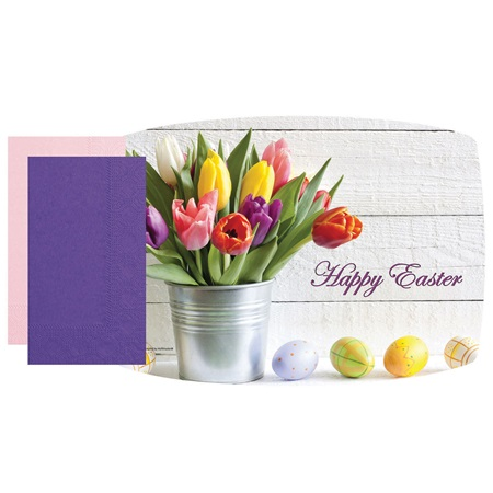 Easter Tulips Placemat Combo Pack
