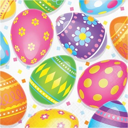 Colorful Easter Eggs Luncheon Napkins