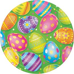 Colorful Easter Eggs Dinner Plates