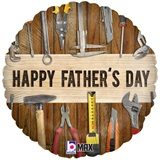 Father's Day Tools Metallic Balloon, 18""