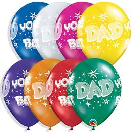 "Dad You're The Best 11"" Latex Balloons, 50/pkg."
