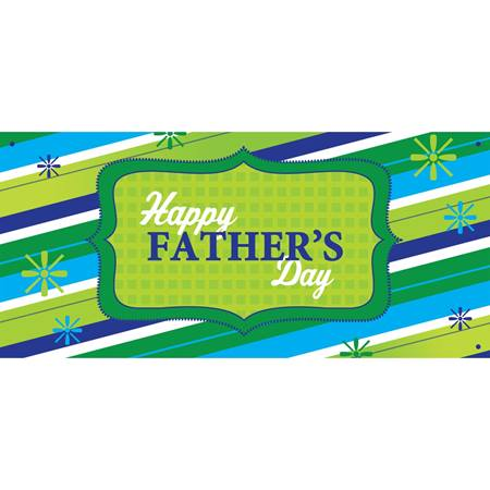 Happy Father's Day Stripe Banner