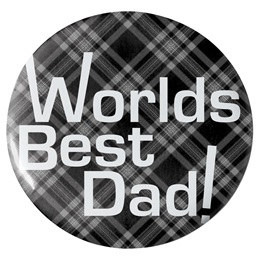 Worlds Best Dad Button - 2 1/4 in.