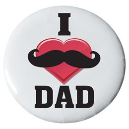 I Heart Dad Button - 2 1/4 in.
