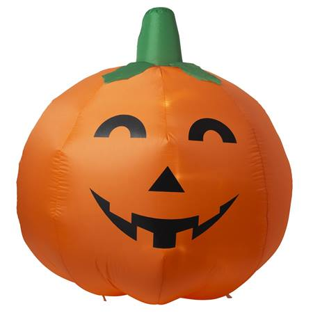 Lighted Air Blown Inflatable Pumpkin