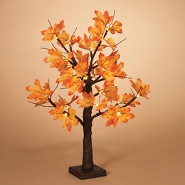 Maple Leaf LED Lighted Tree