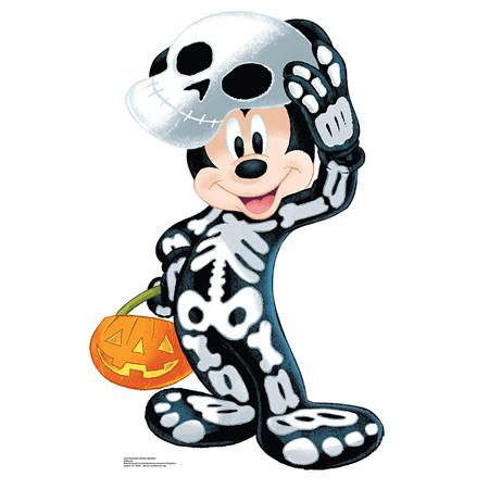 Mickey Mouse Halloween Skeleton Stand-Up