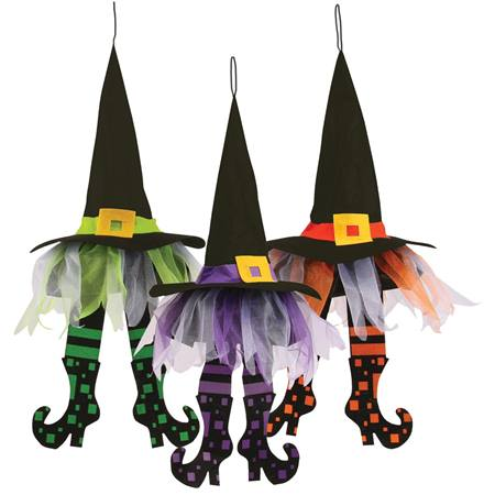 Hanging Witch Hat with Feet