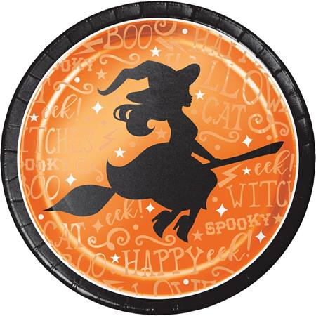 Wicked Witch Foil-Stamped Dinner Plates