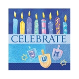 Celebrate Hanukkah Beverage Napkins