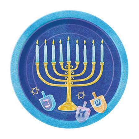 Celebrate Hanukkah Luncheon Plates