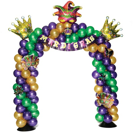 Mardi Gras Arch Balloon Kit