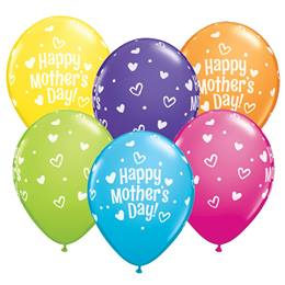 "Happy Mother's Day 11"" Latex Balloons"