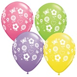 Spring Fun Flowers Latex Balloons