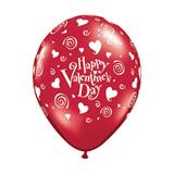 Valentine's Swirling Hearts Latex Balloons