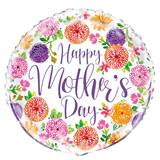 Mother's Day Floral Metallic Balloon, 18""
