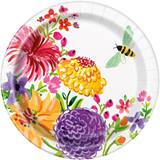 "Floral Tableware 7"" Luncheon Plates, 8/pkg"