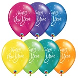 New Year Sparkle Latex Balloons