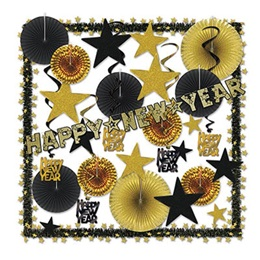 Gold New Year's Decorating Kit