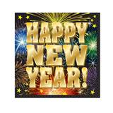Fireworks New Year Beverage Napkins, 16/pkg.