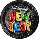 New Year Balloons Dinner Plates