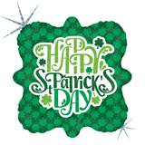 Shimmering Shamrocks Metallic Balloon