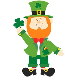 Leprechaun Jointed Paper Cutout
