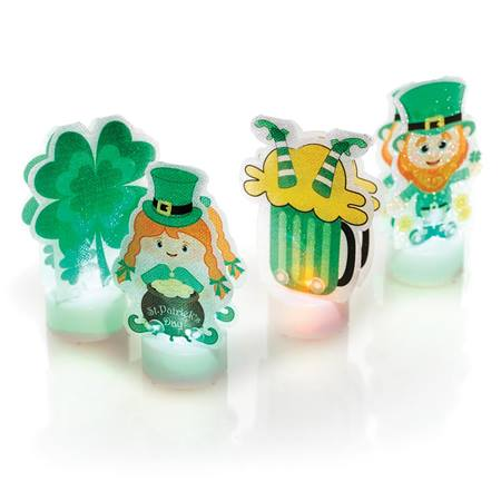 St. Patrick's Day Color Changing Tea Light