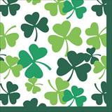 Shamrock Scatter Beverage Napkins