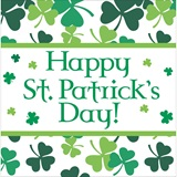 Shamrock Scatter Luncheon Napkins