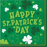 Shamrocks Luncheon Napkins