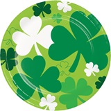 Shamrocks Luncheon Plates