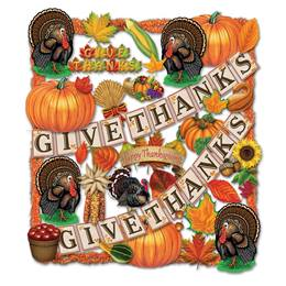 Thanksgiving Trimorama Decorating Kit