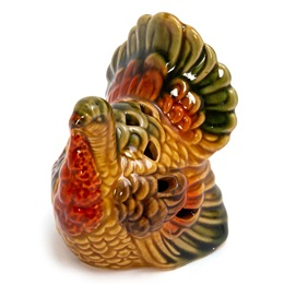 Ceramic Turkey Figurine