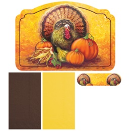 Turkey Traditions Placemat and Napkin Combo Pack