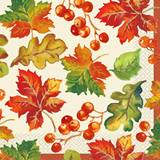 Berries & Leaves Luncheon Napkins