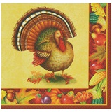Festive Turkey Luncheon Napkins