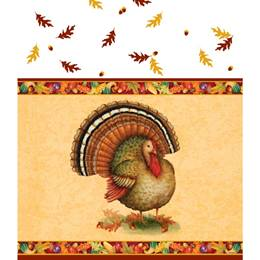 Festive Turkey Table Cover