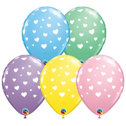 Hearts-A-Round Latex Balloons