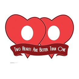 Two Hearts Cardboard Stand-up